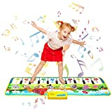 Shayson Piano Matte, 100*36 cm Klaviermatte 8 Instrumente Sounds 10 Keys Keyboard 9 Demo, Tanzmatte Floor Musical Spielzeug Touch Play...