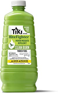 Best TIKI Brand Clean Burn BiteFighter Mosquito Repellent Torch Fuel, 64 Ounces Reviews