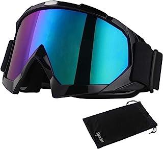 <h2>Sijueam Motorradbrillen Hochwertige Skibrille Anti Fog UV Schutzbrille mit Double Lens Schaumstoffpolsterung Uvex für Outdoor Aktivitäten Skifahren Radfahren Snowboard Wandern Augenschutz</h2>