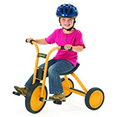FOR BEGINNING RIDERS: Kids will be excited to grab their helmet and jump on the sleek and modern-designed MyRider Midi Trike. Perfect for beginner riders, the tricycle features heavy-duty handgrips and innovative Vario seat to accommodate a growing c...