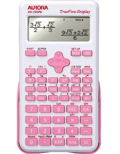 Aurora ax-595pk Wetenschappelijke rekenmachine, roze