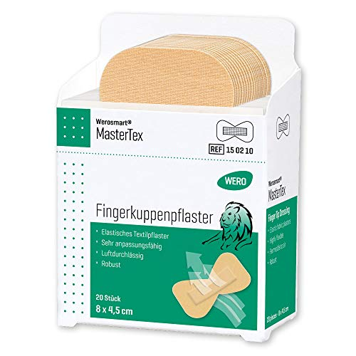 Werosmart® Pflasterspender-Einsätze Fingerkuppenpflaster 8 x 4,5 cm (Textil | Hautfarben | Klassisch)