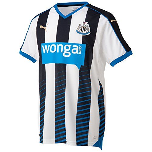 PUMA Herren Trikot Newcastle Home Replica Shirt with Sponsor, Black-White Royal, S
