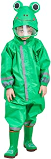 LUCKYSTAR One Piece Rain Suit Kids Full Body Rain Jacket/Pant Coat Muddy Buddy Coverall