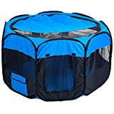 "PETMAKER Pop-Up Playpen - 42"" x 25"" Portable Octagon Exercise..."