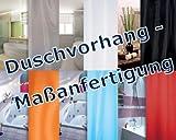 DUSCHVORHANG LÄNGENAUSWAHL NACH WUNSCH / Maßanfertigung / 7 Farben wählbar