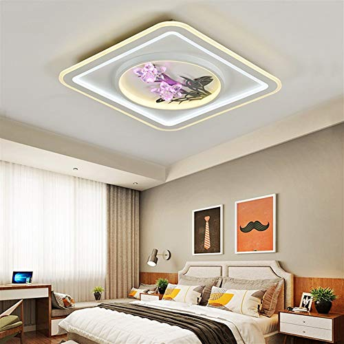 LVYI eenvoudige LED woonkamer verlichting plafond lamp creatieve eetkamer slaapkamer kristal licht armatuur geschikt voor badkamer, keuken, gang, woonkamer, slaapkamer, eetkamer, balkon