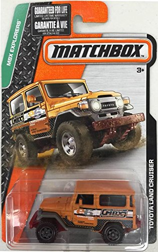 LAND CRUISER Matchbox 2016 MBX Explorers Series Orange Toyota Land Cruiser 1:64 Scale Collectible Die Cast Metal Toy Car Model by Matchbox