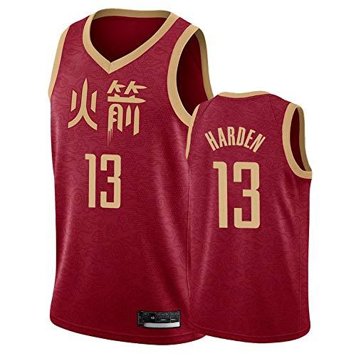 XIAOHAI Hombres NBA Sports Basketball Jersey Houston Rockets # 13 James Harden Transpirable Desgaste Resistente Malla Bordada Camisetas de Baloncesto Deportes Camisetas Jerseys,M