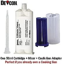 Devcon 5-Minute Epoxy (14270) - Fast-Setting General Purpose Epoxy Adhesive - 50ml/1.7oz Caulk Gun Adapter Kit