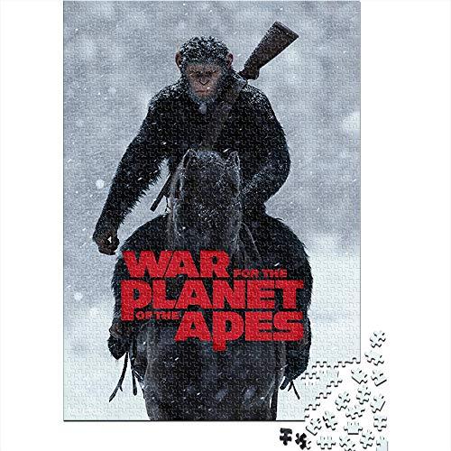HYLLVC Puzzle für Erwachsene 1000 Teile War of The Planet of The Apes 1000-teiliges Puzzle für Erwachsene und Kinder Movie Poster Herausforderndes und lustiges Familienkooperationsspiel (75x50cm)