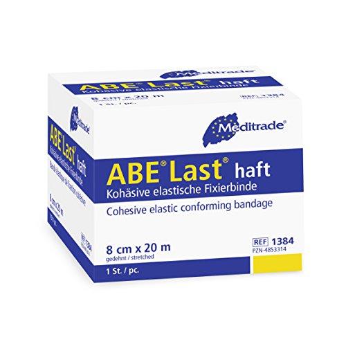 Meditrade 1394 Abe-Last zeer elastische zelfklevende crêpe en fixeerbinding, 4 m lang x 12 cm breed, natuurlijk wit