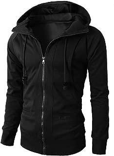 Fashion Mens Autumn Winter Long Sleeve Sport Zipper Hoodie Pullover Tops Jacket