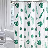WANGXUE Tropische Duschvorhang Bananen Blatt Druck Bad wasserdichte Tüllen Dicke Polyester Gewebe Duschvorhang für Badezimmer Rustikale Badezimmer Vorhang (Size : W120xH180cm)