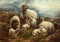 数字キットによるペイント羊羊番号キットによるペイントDIY絵画油絵描画キャンバス家の装飾ギフト