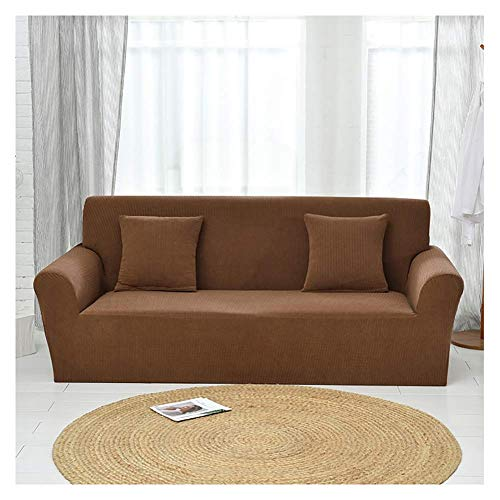 BWBW Sofabezug ecksofa L Form, Moderne Ecksofa Überzüge,Sofa schonbezug Stretch, Sofa schonbezug 1 2 3 4 sitzer, für Wohnzimmer, maschinenwaschbar Spandex Sofa,Brown,2 Seater(145-178cm)