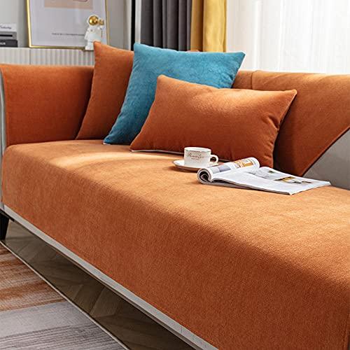 Fsogasilttlv Moderno Divano Protector Lavabile Arancione 110 * 210 cm, Copridivano per Soggiorno, Copridivano Antiscivolo Fodera per mobili Fodera per Divano angolare Asciugamano