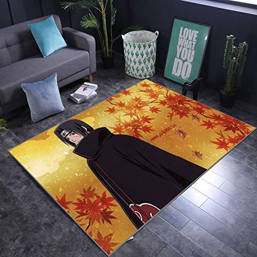 Alfombra de Dibujos Animados Naruto, Sala de Estar, Dormitorio, sofá Cama, Alfombrilla Antideslizante, Alfombra de Pasillo insonorizada, a Prueba de Humedad, 50 * 80 cm-A_40X60CM