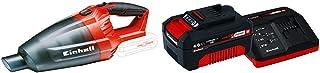 Einhell 2347120 Aspiradora de mano Negro, Rojo + 4512042 Kit con Cargador y bater?a de repuest, tiempo de carga: 60 Minutos
