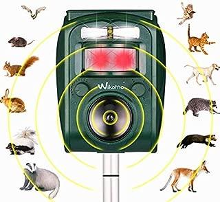 Wikomo 1 Ultrasonic Solar Powered Animal Repeller, Motion Senso