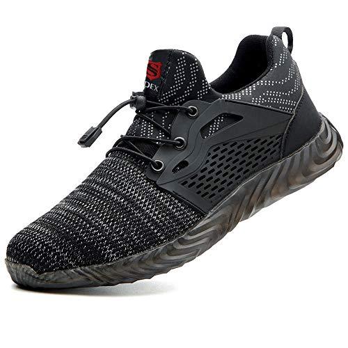 SUADEEX veiligheidsschoenen heren dames werkschoenen S3 licht ademende beschermende schoenen met stalen doppen