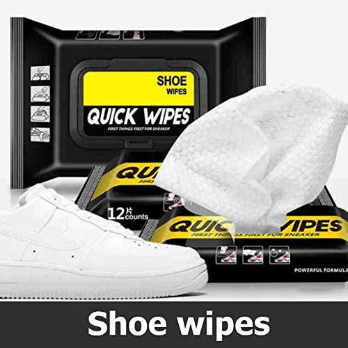 YUY 12/30 Paquetes De Toallitas para Zapatos, Toallas De Papel De Limpieza Portátiles Desechables para Fregar Zapatos Deportivos,30PCS
