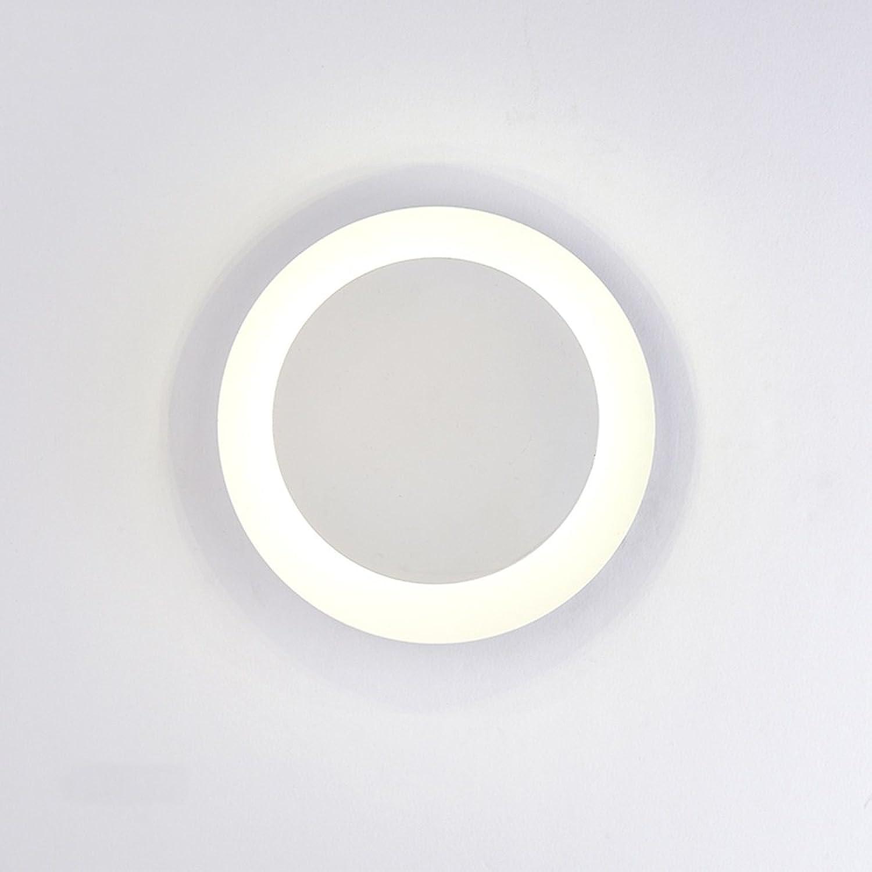 Moderne Mode Eisen Kunst Runde Farbe Wand Lampe Creative TV Wand Wohnzimmer Schlafzimmer Dekorative Lampen (Farbe   Wei)