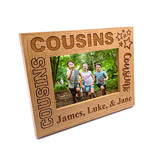 ukgiftstoreonline Personalised Cousins Photo Frame Star Design (4 x 6 Inch)