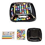 DUOCACL Rainbow Ball Matching Toy Colorful Fun Puzzle Ajedrez Juego de Mesa con Cuentas de Colores Interacción Juego Familiar Juguete Juguete Educativo Regalo para niños y niñas