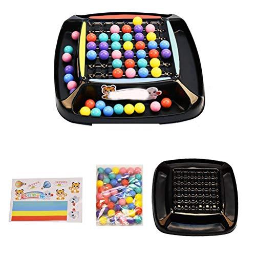 DUOCACL Rainbow Ball Matching Toy Colorful Fun Puzzle Jeu de société d échecs avec des Perles colorées Interaction Jeu de Famille Jouet Jouet Éducatif Cadeau pour Garçons et Filles