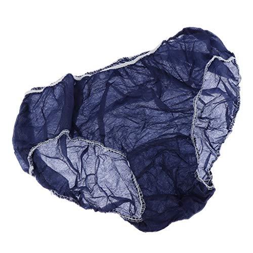 50x Einweg Unterwäsche Vliesstoff Unterhose Slip für Damen und Herren - Blau