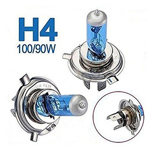 Katur Lot de 2 ampoules de phare avant H4 halogène Xenon 100 W DC 12 V 5000 K