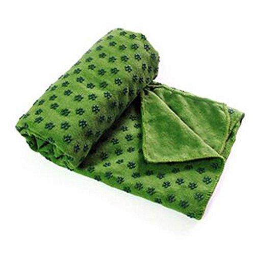 JT outdoor yoga handdoek antislip hoogwaardige microvezel multifunctionele vloerhanddoek, groen, 61 x 183