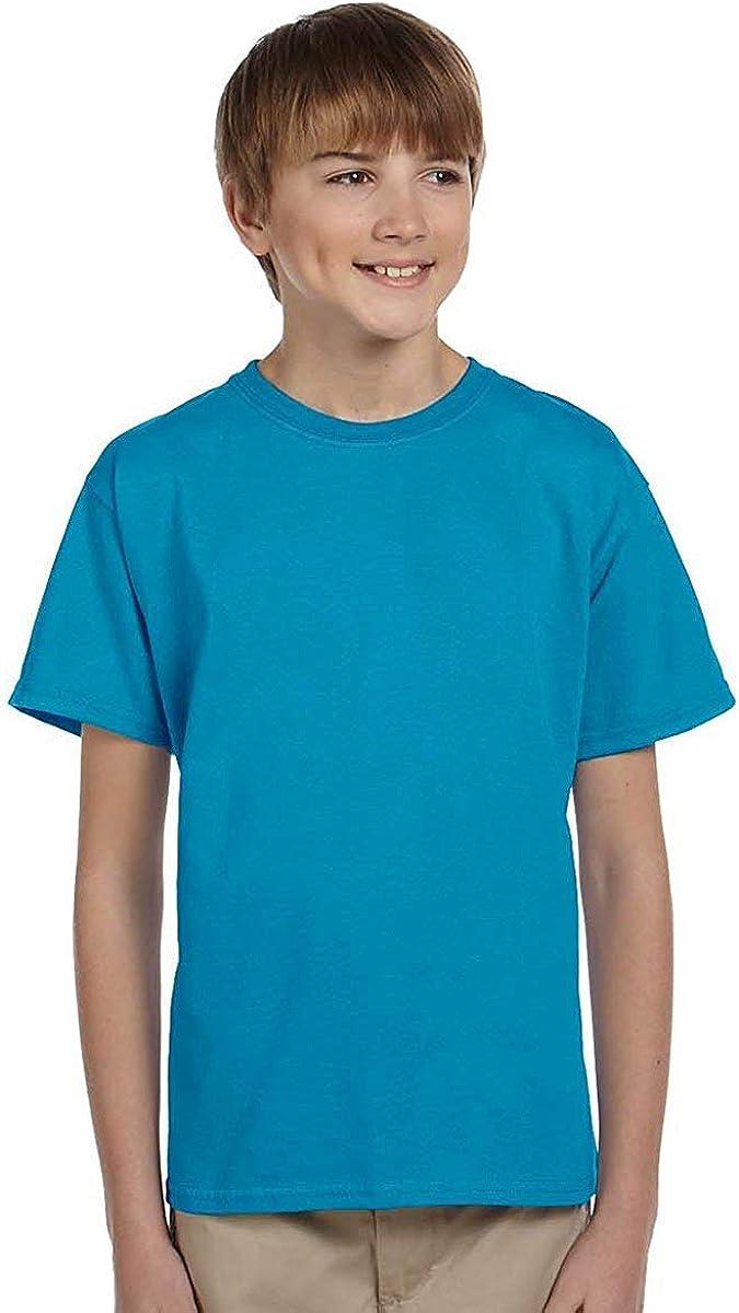Hanes Boys ComfortBlend EcoSmart Crewneck(5370)-Teal-L