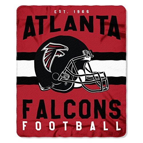 NFL Atlanta Falcons Singular Fleece Throw, 50-inch by 60-inch, Red