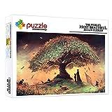 FFGHH Puzzles 1000 Piezas Puzzles Árbol De Billetes Puzzle 1000 Piezas Mini Puzzle Rompecabezas Imposible para Adultos Amigo Y Niños 14.96In X 10.23In