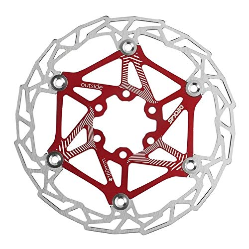 ZSSGSHR Ultra-light MTB Mountain Bike Cycling Brake Disc Float Floating Pads 160mm 6 Bolt Rotors Parts Cycling Accessories Rear Caliper (Color : Red)