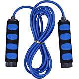 HITOP Jump Rope Adjustable for Adult Kids Boys Girls Toys Gift Sport Fitness (Blue)