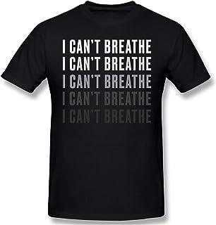 I Cant Breathe T-Shirt Men Black Lives Matter Shirt BLM Short Sleeve Casual Tees