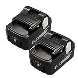 TONG 日立 18v バッテリー BSL1860 互換 6.0Ah リチウムイオン バッテリー 2個セット LED残量表示 電動工具交換用