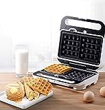 JFSKD Máquina De Gofres, Waffle Maker, Sandwichera con Placas Antiadherentes, Fáciles De Limpiar, Calefacción De Doble Cara, Almacenamiento De Alambre