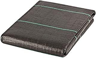 GardenMate 6 x 33 feet Sheet Woven Weed Control Fabric - UV stabilized Black Heavy Duty 3 oz/yd² Landscape Ground Cover Membrane