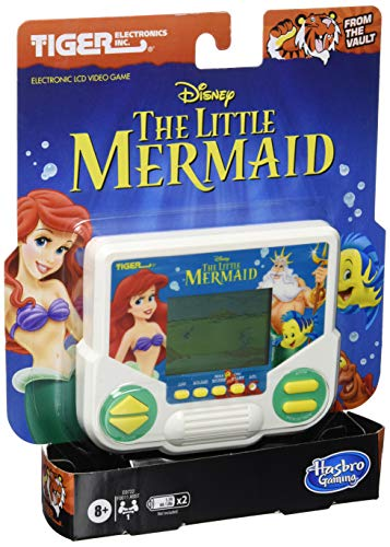 Tiger Electronics Disney's The Little Mermaid Electronic LCD Video Game, Retro-Inspired Edition, Handheld 1-Player Game, Ages 8 and Up
