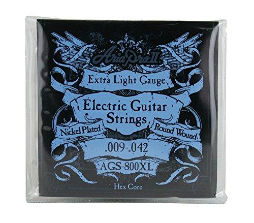 Aria AGS-800XL - Juego de cuerdas para guitarra eléctrica