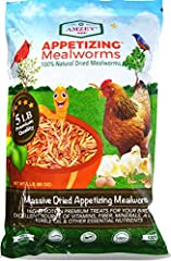 HIGH IN PROTEIN - 5 LBS Dried mealworms. Mealworms are an essential source of proteins & nutrients for Chickens, Birds, Duck, Geese, Reptiles, Turtles, Hedgehogs, etc. PREMIUM QUALITY & VALUE - Our mealworms are BIG, THICK, and JUICY. 5 lbs mealworms...