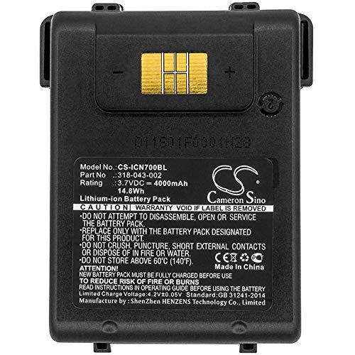 Replacement of Intermec AB15 Battery 3.7V 4000mAh 318-016-002 for CN3 Scanner