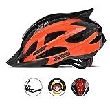 Bike Helmet, Adjustable Lightweight Bicycle Helmets for Adult, Road Helmet with Removable Visor (Orange)