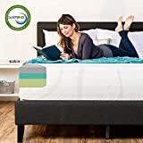 Best Choice Products 12in Queen Size 3-Layer Medium-Plush Mattress w/Moisture Wicking, Odor Reducing Bamboo Charcoal Gel & Green Tea Infused Memory Foam - CertiPUR-US Certified