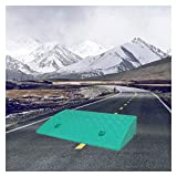XIQIN Rampa De Bordillo, Rampa De Umbral Motocicleta Coche Muelle De Carga Carril Camión Máquina Elevadora Silla De Ruedas Rampa (Color : Green, Size : 50x27x9cm)