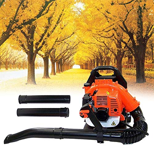 Shueriu Electric Backpack Leaf Blower - 52cc 2 Stroke 3.2HP Gas Cordless Backpack Leaf Blower, Backpack Blowers Gas Powered with Padded Harness to Blow Leaves, Snow